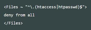 .htaccessファイルそのものへのアクセスをすべて拒絶